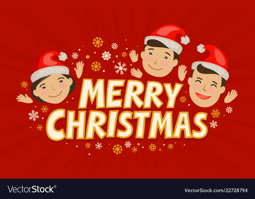 Merry christmas greeting card holiday concept