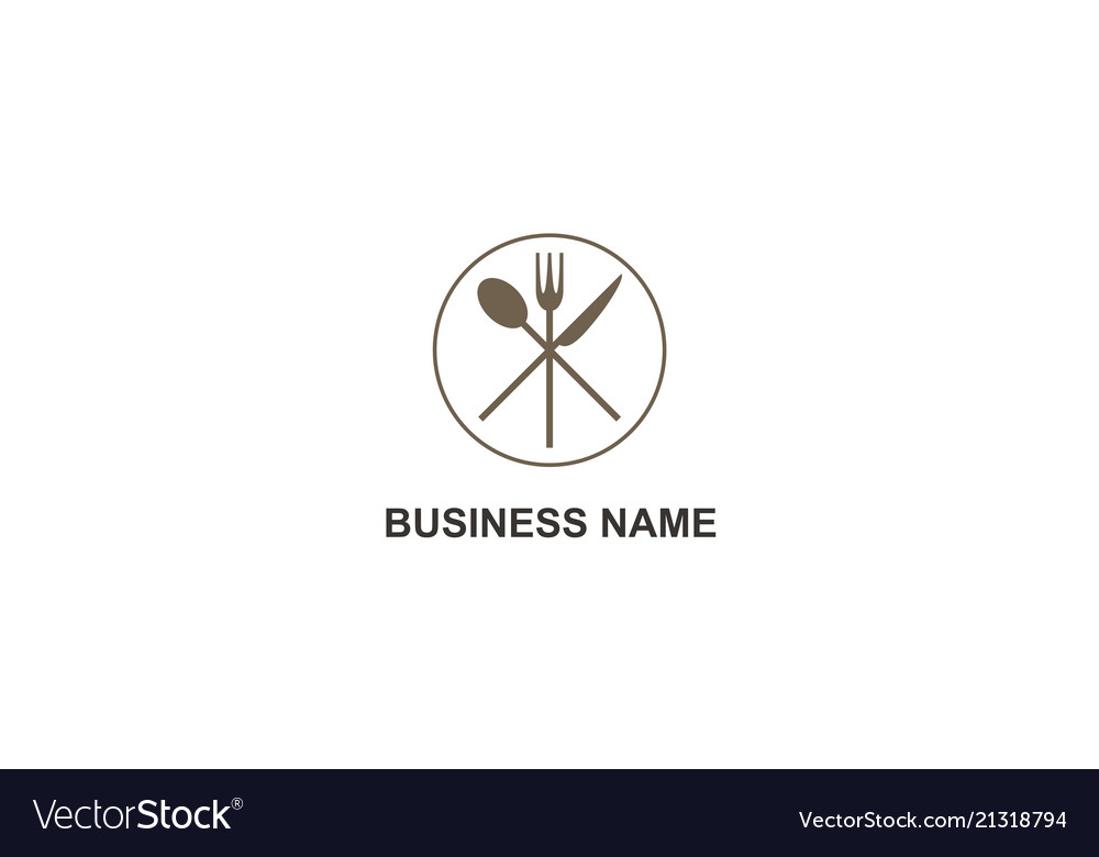 Restaurant food fork spoon knife logo