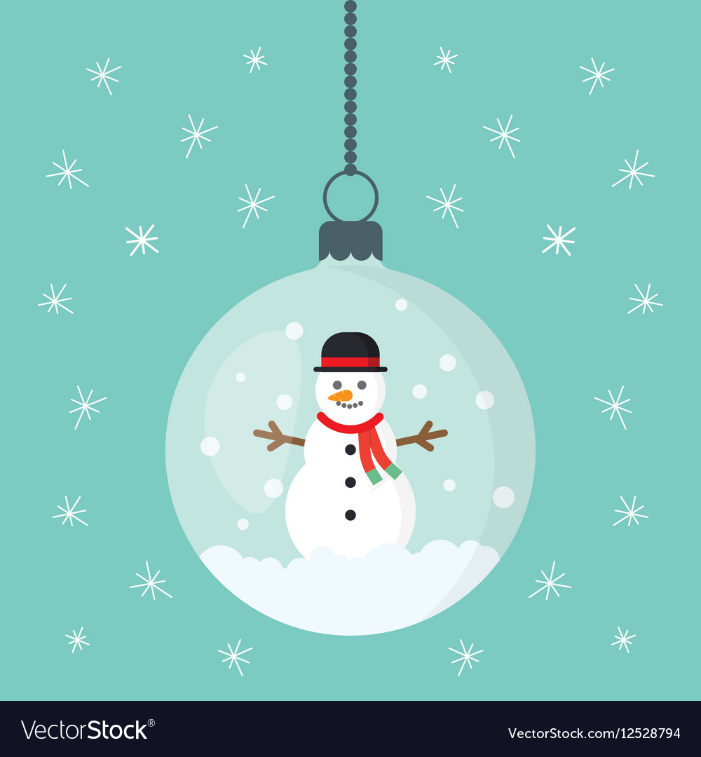 Snowman inside Christmas decorations