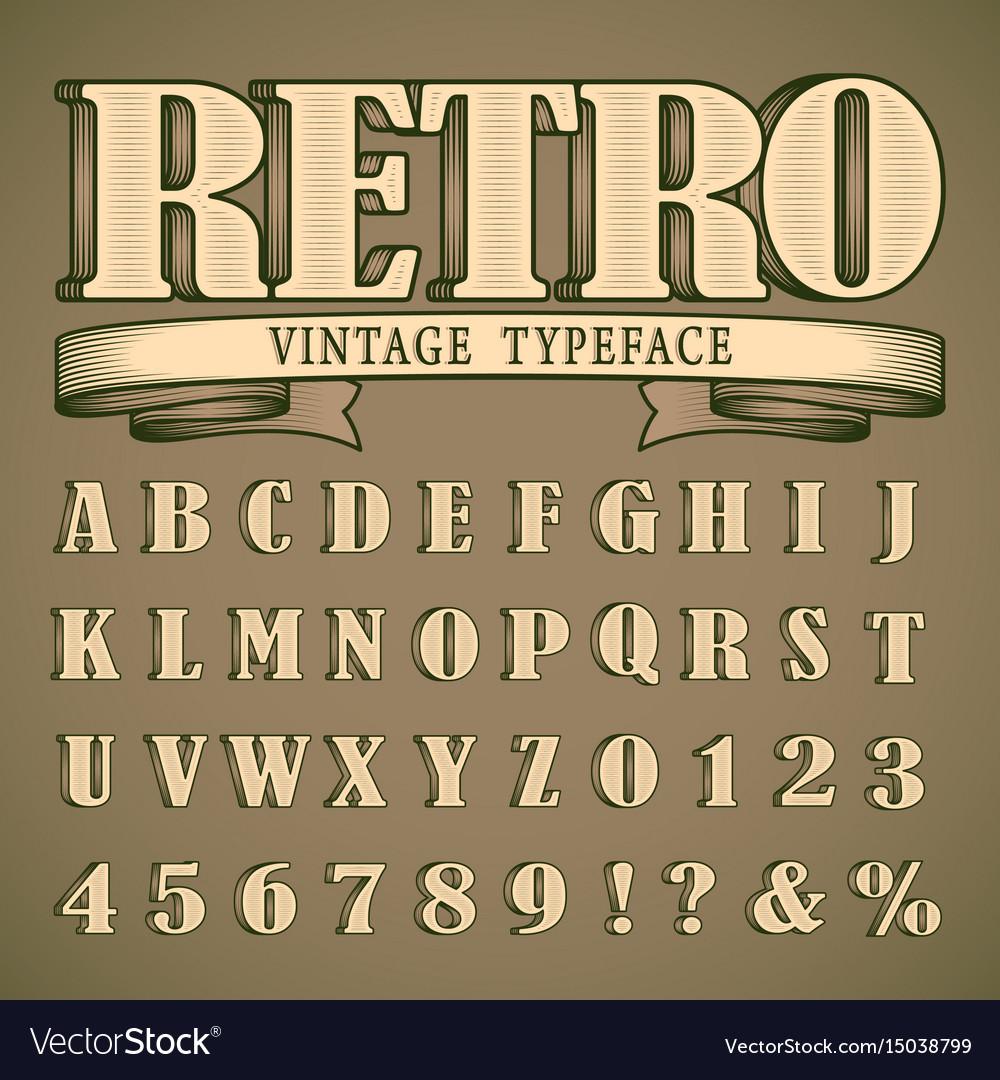 Bold vintage font