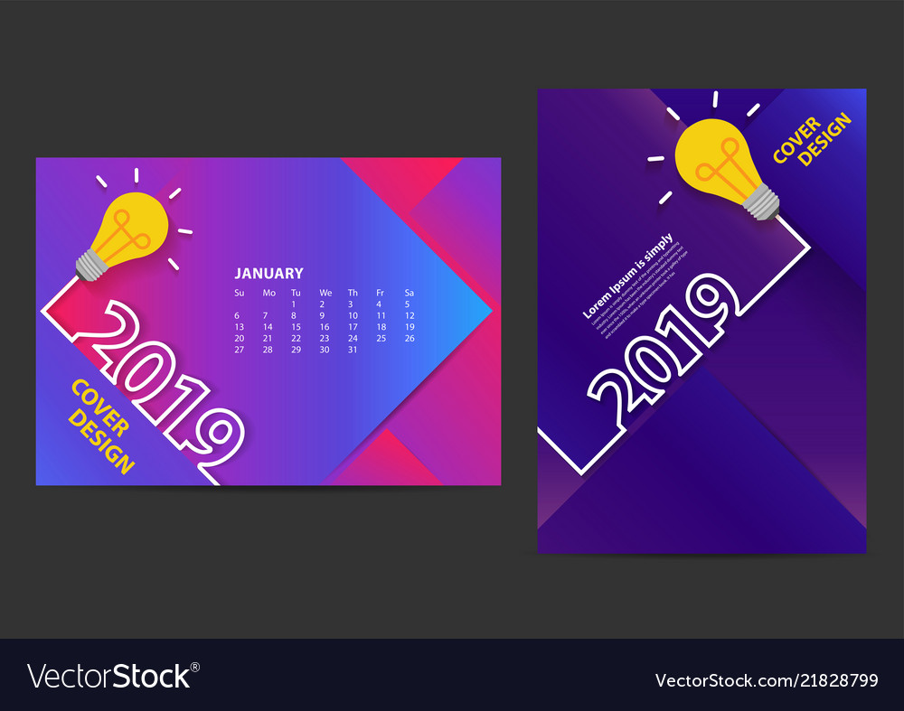 Creative light bulb ideas 2019 new year design