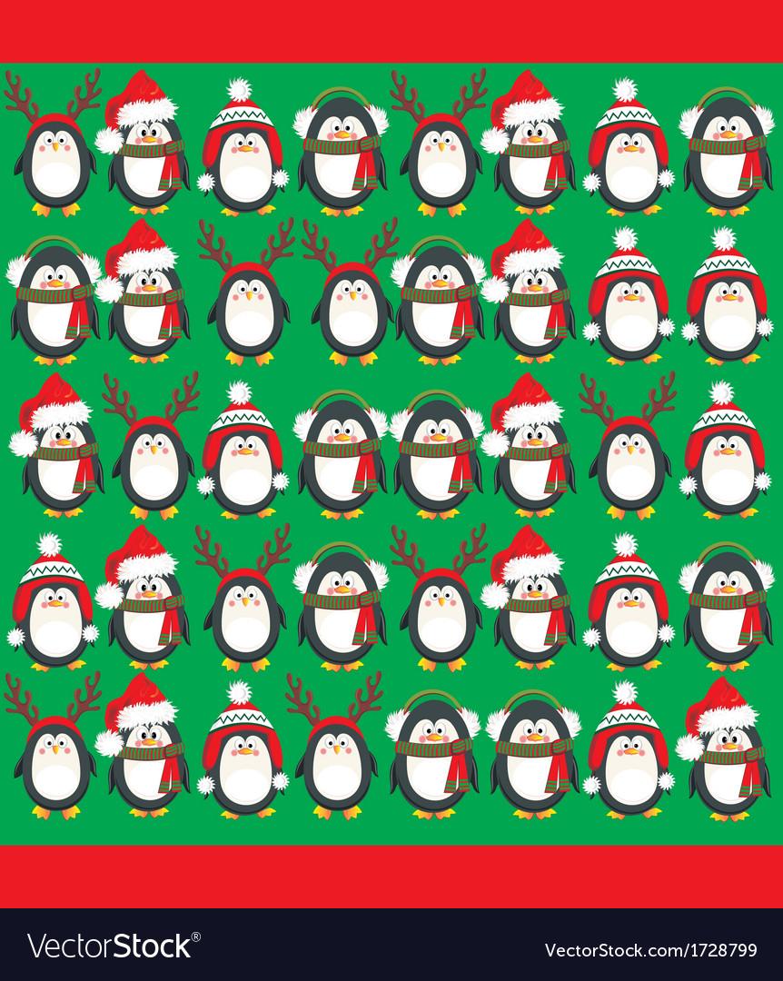 Cute penguins vector image