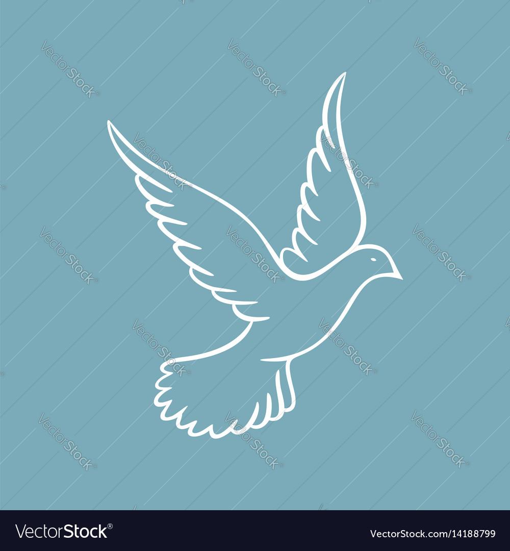 Dove symbol holy spirit Royalty Free Vector Image