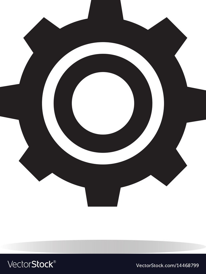 Gear icon on white background gear sign Royalty Free Vector