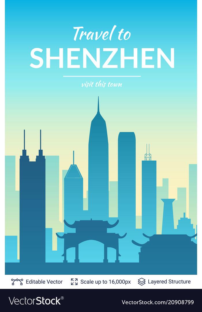Shenzhen famous china city scape