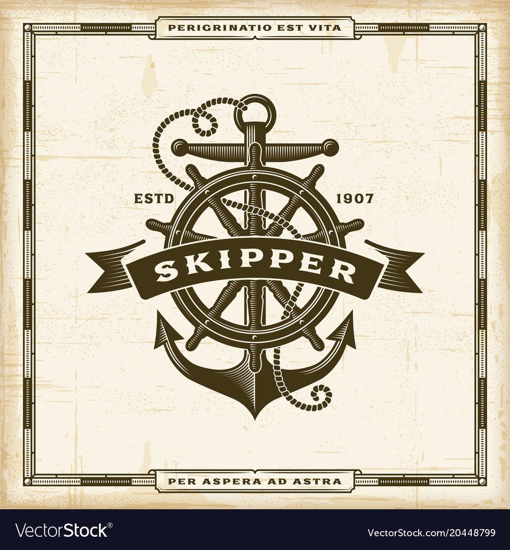 Vintage skipper label