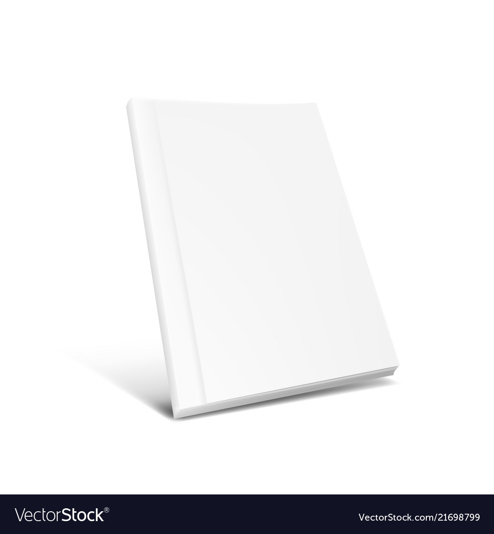 White clear magazine or book cover on white