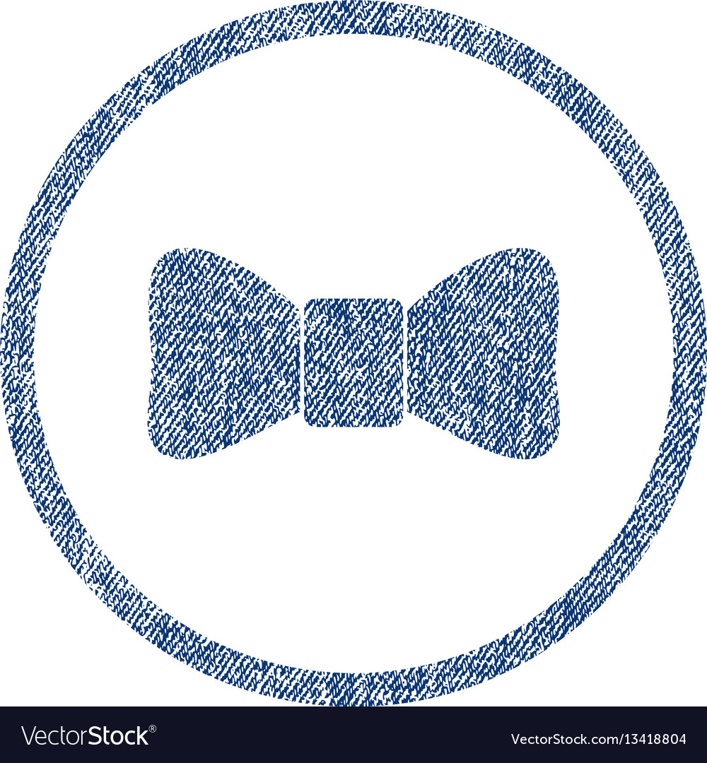 Bow tie rounded fabric textured icon