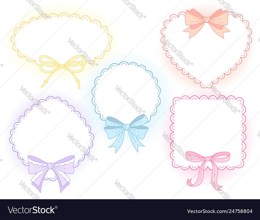 Cute lace frames