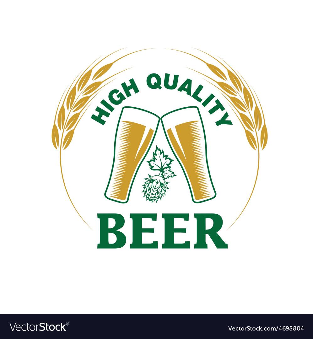 High quality beer emblem
