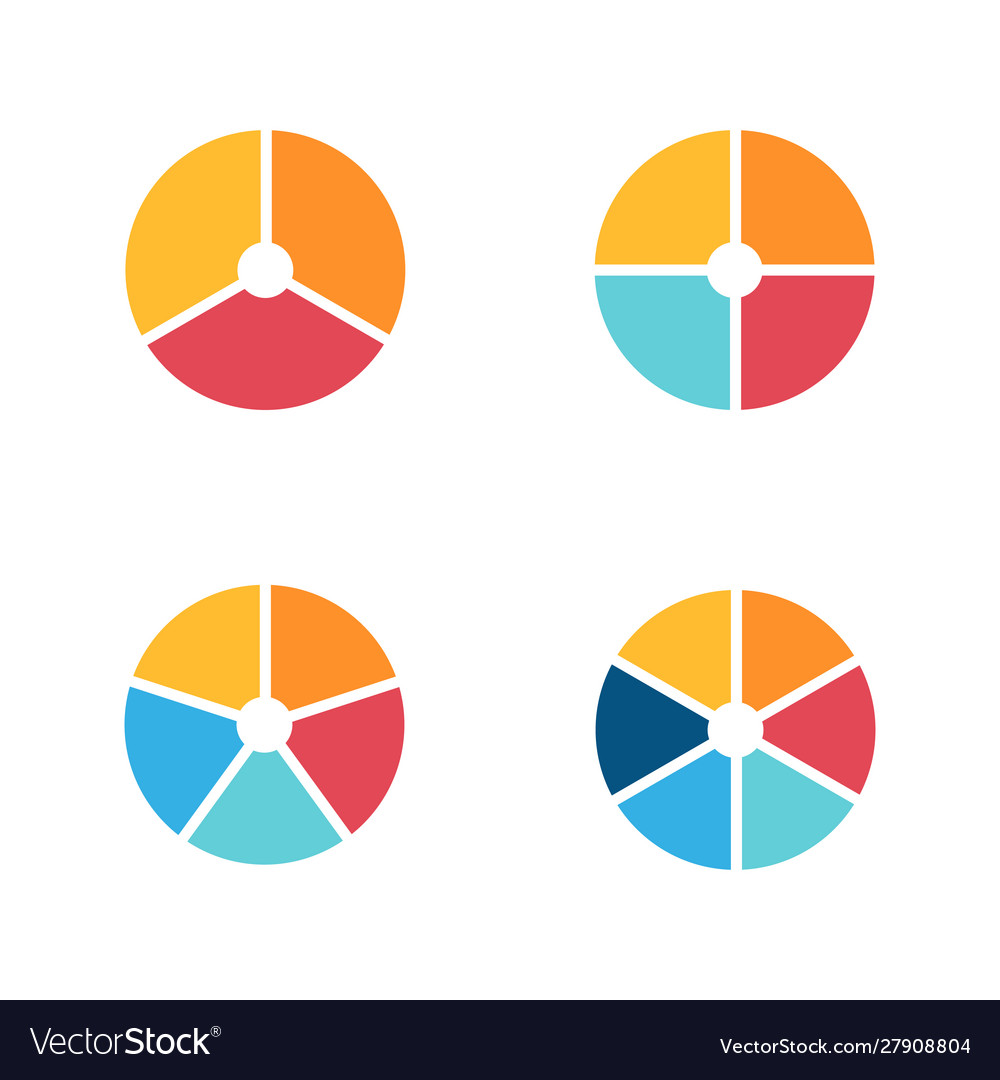 Infographic circle icon set flat style