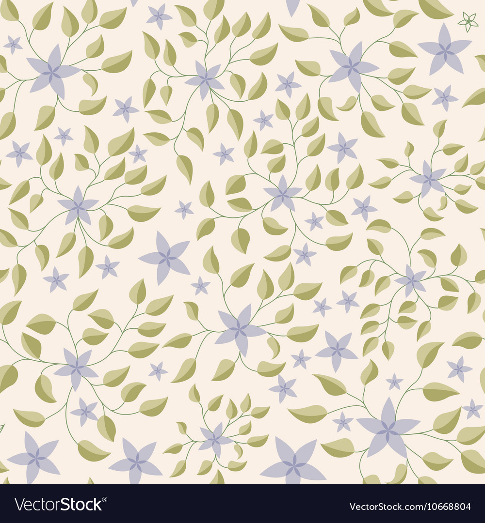 Little flowers with leaves pattern vintage