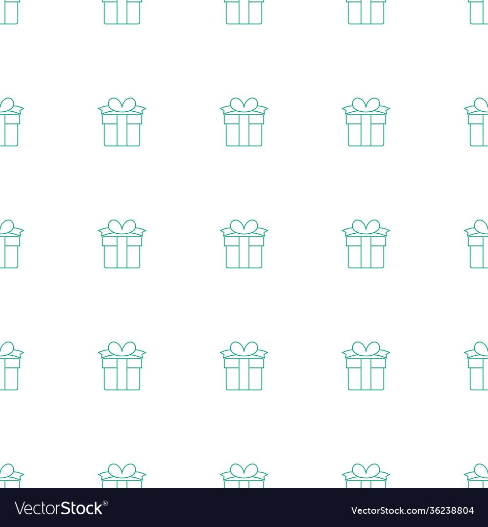Present icon pattern seamless white background
