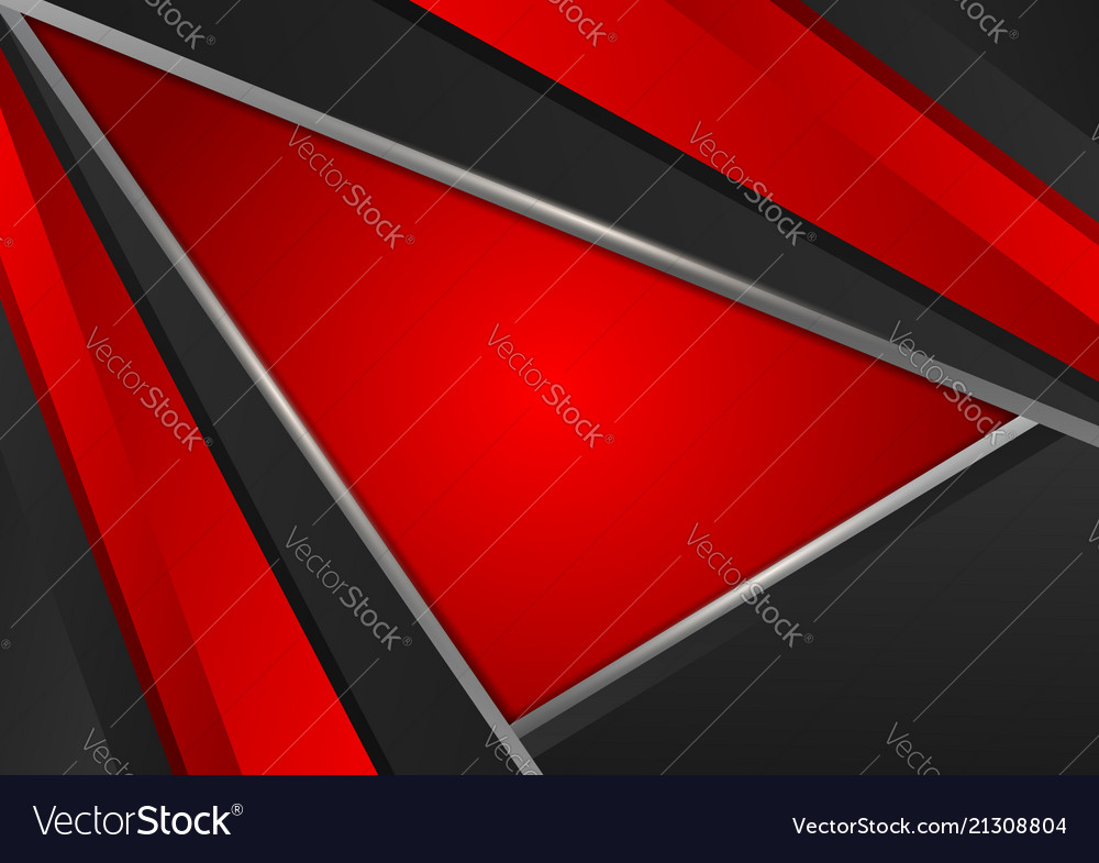 Red and silver color geometric abstract