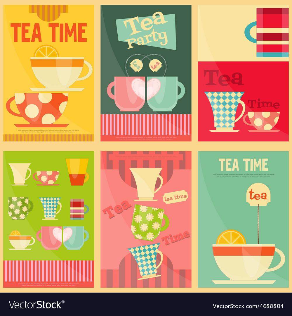 Tea set posters