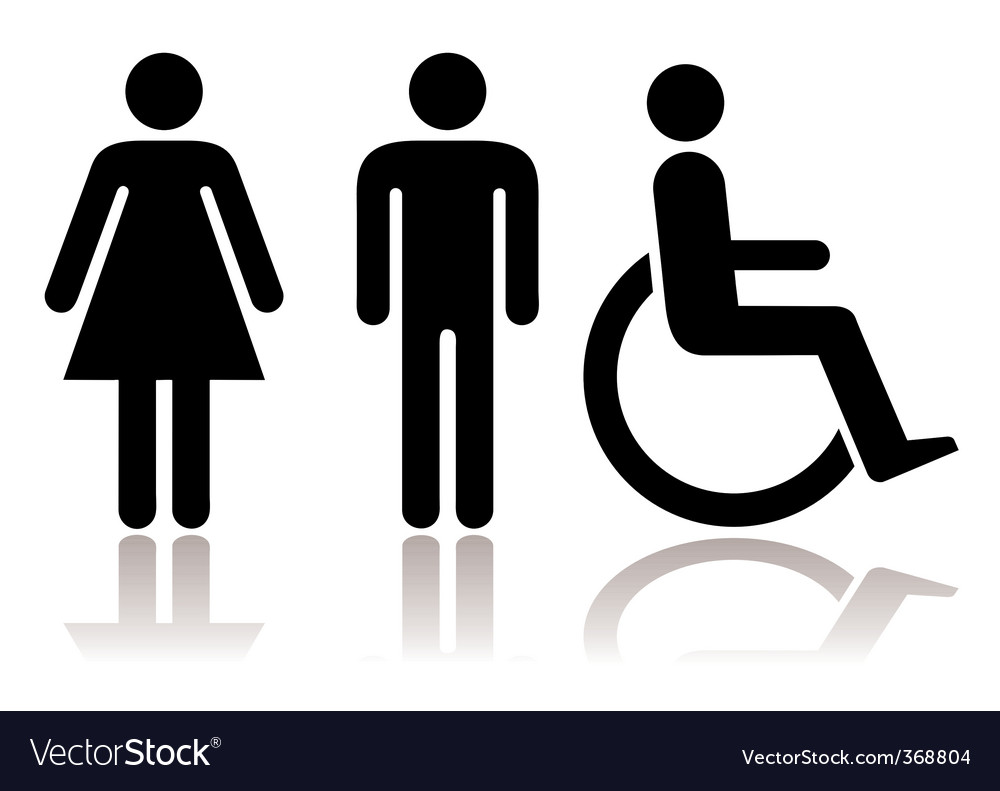 Toilet Symbols Disabled Royalty Free Vector Image