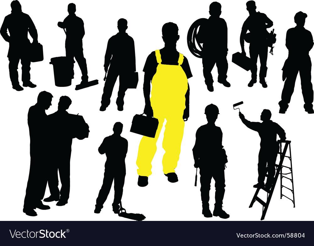 Twelve workers vector image
