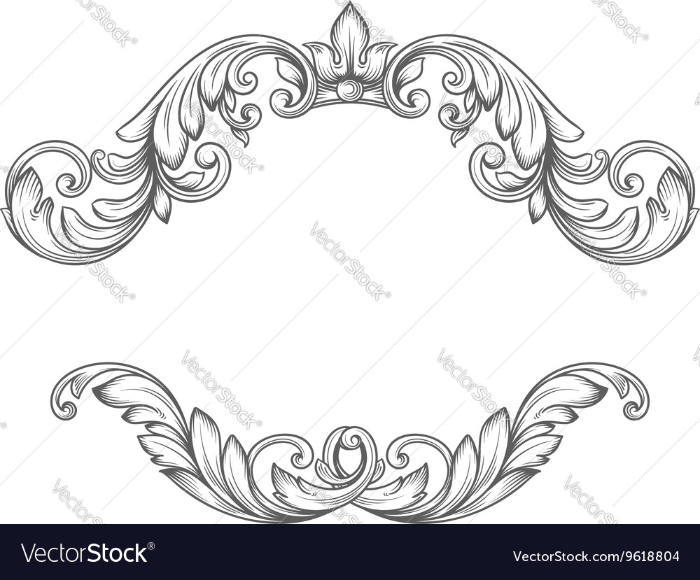 Vintage label frame design elements Royalty Free Vector