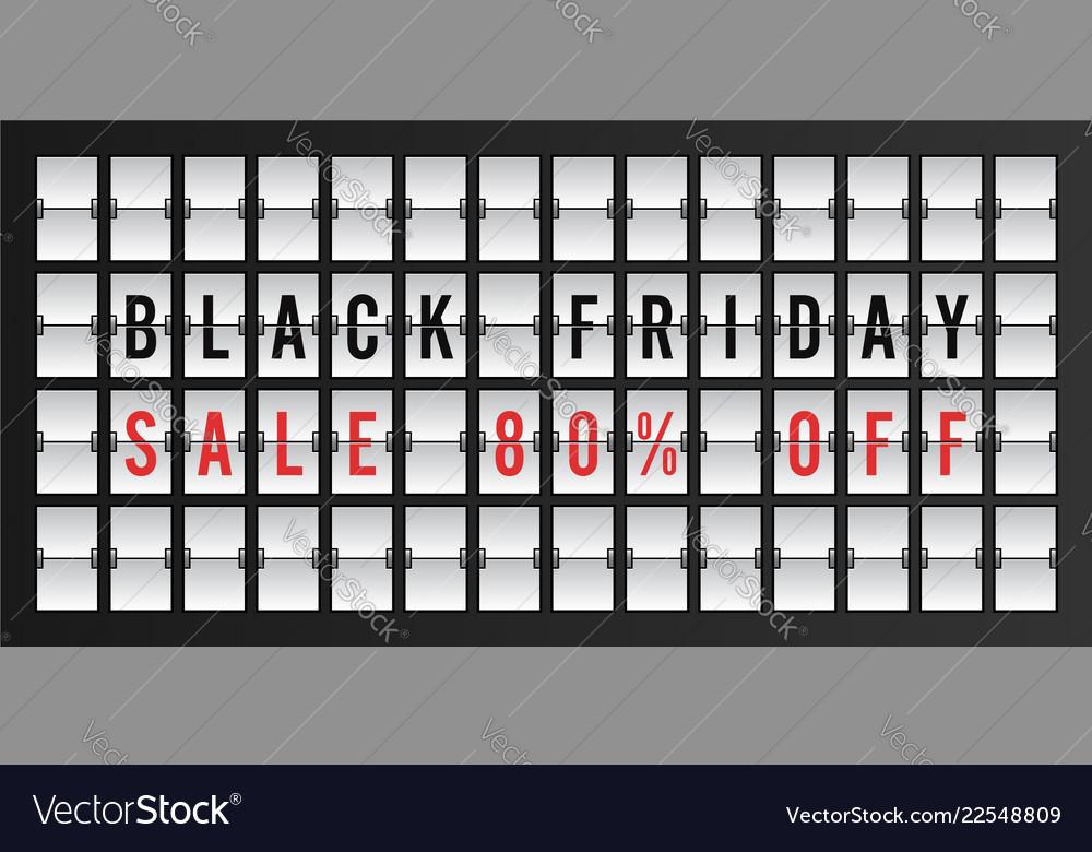 Black friday sale banner design template