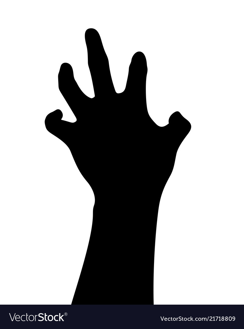 Black Hand Silhouette Hand Gesture Reach Up Vector Image Hand silhouette free brushes licensed under creative commons, open source, and more! vectorstock