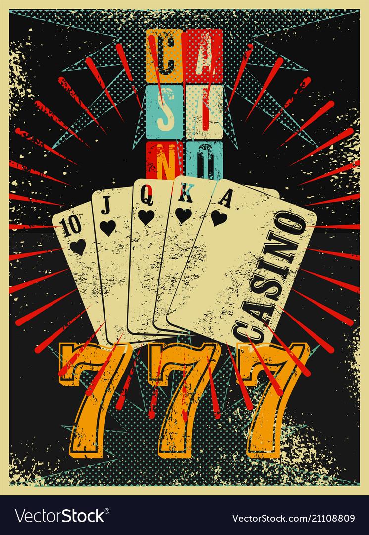 Casino vintage grunge style poster