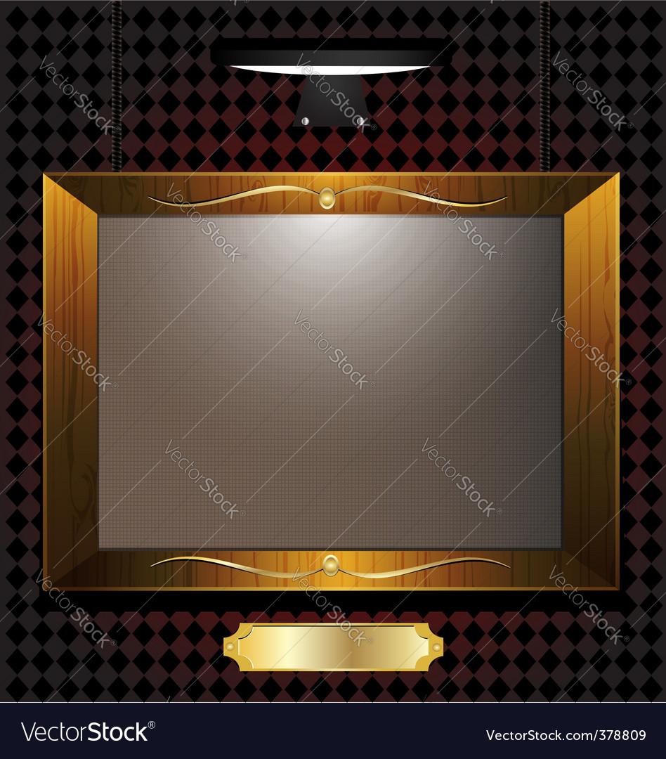 Empty portrait vector image