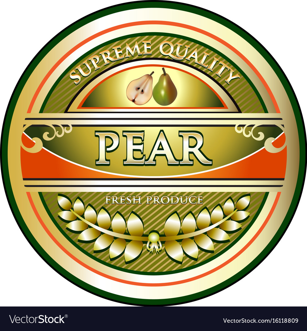 Pear gold icon