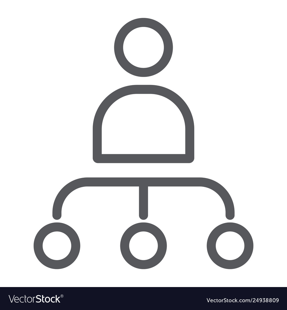Person and chart line icon worker and diagram