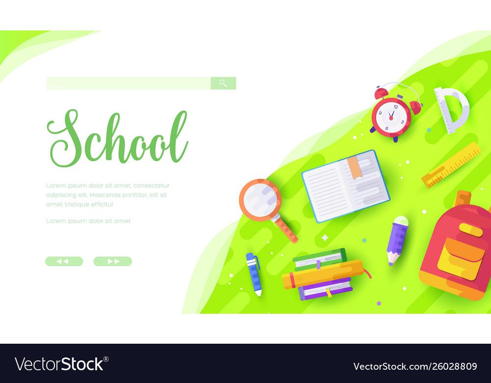 Stationery backpack alarm clock schoolchild