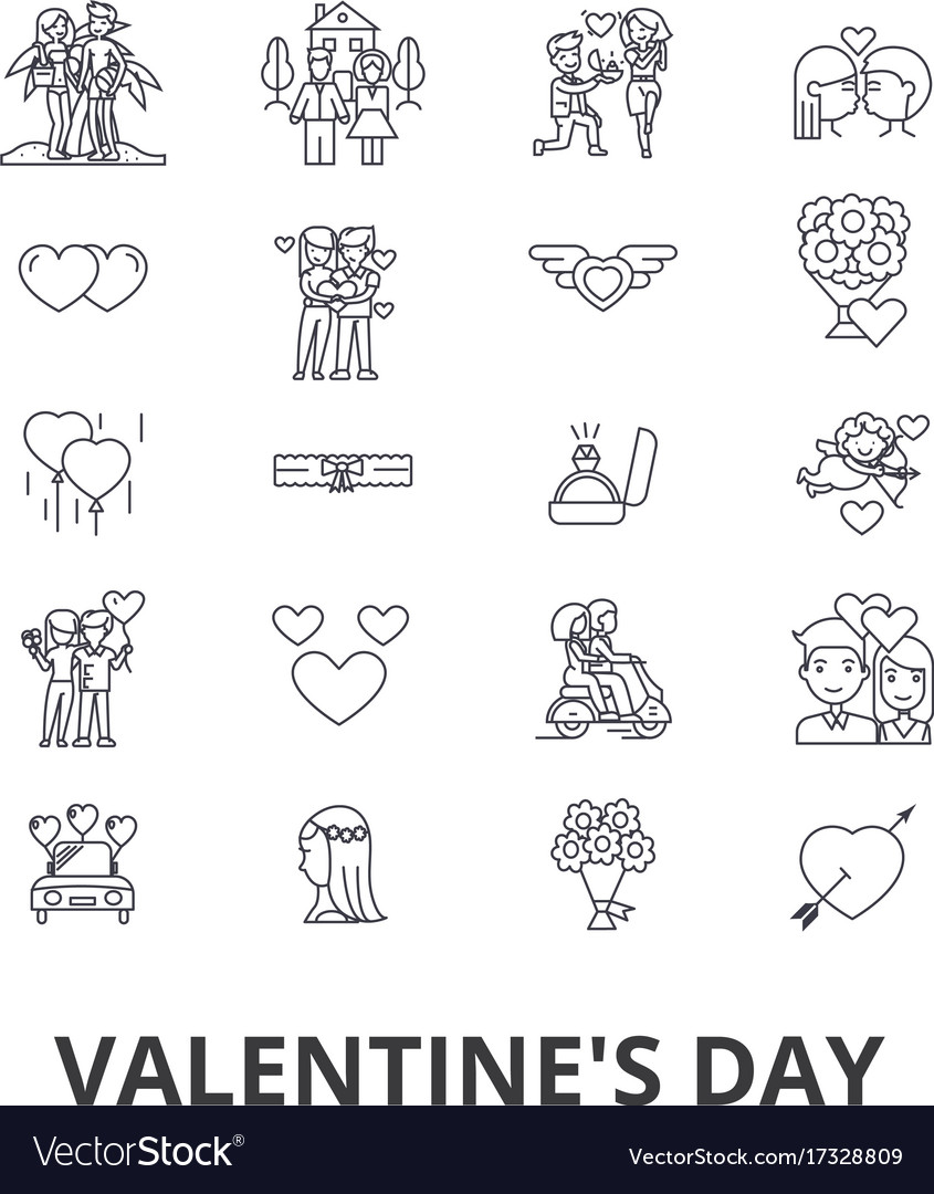 Valentine s day heart relations love couple vector image