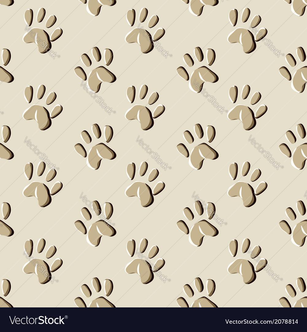 Animal prints seamless pattern