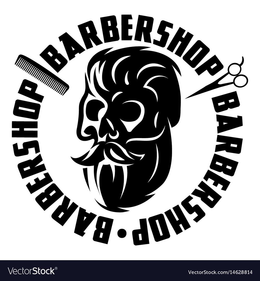 Monochrome with bearded skull