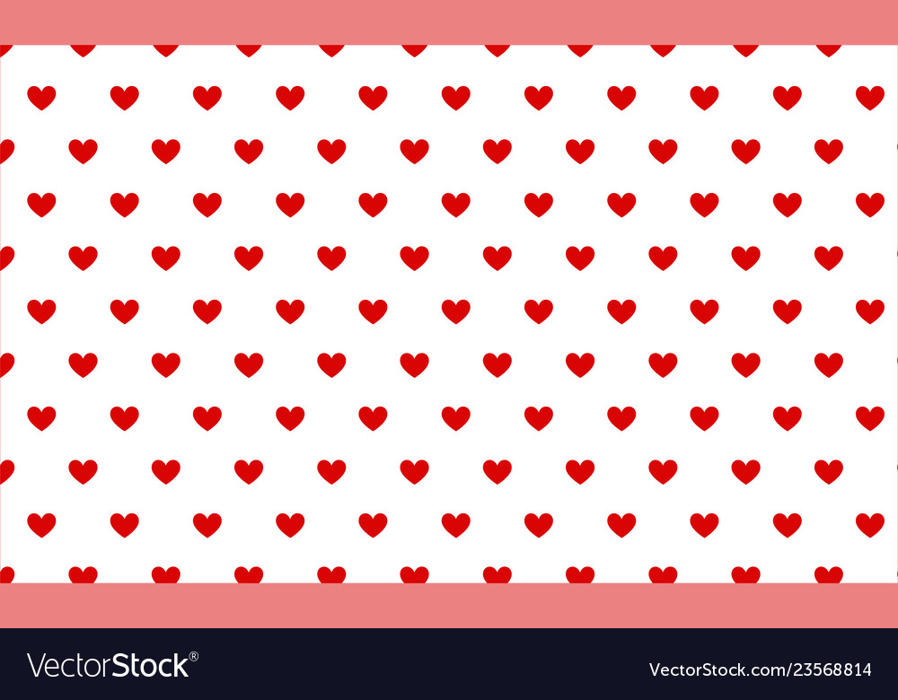Small red hearts on white seamless pattern