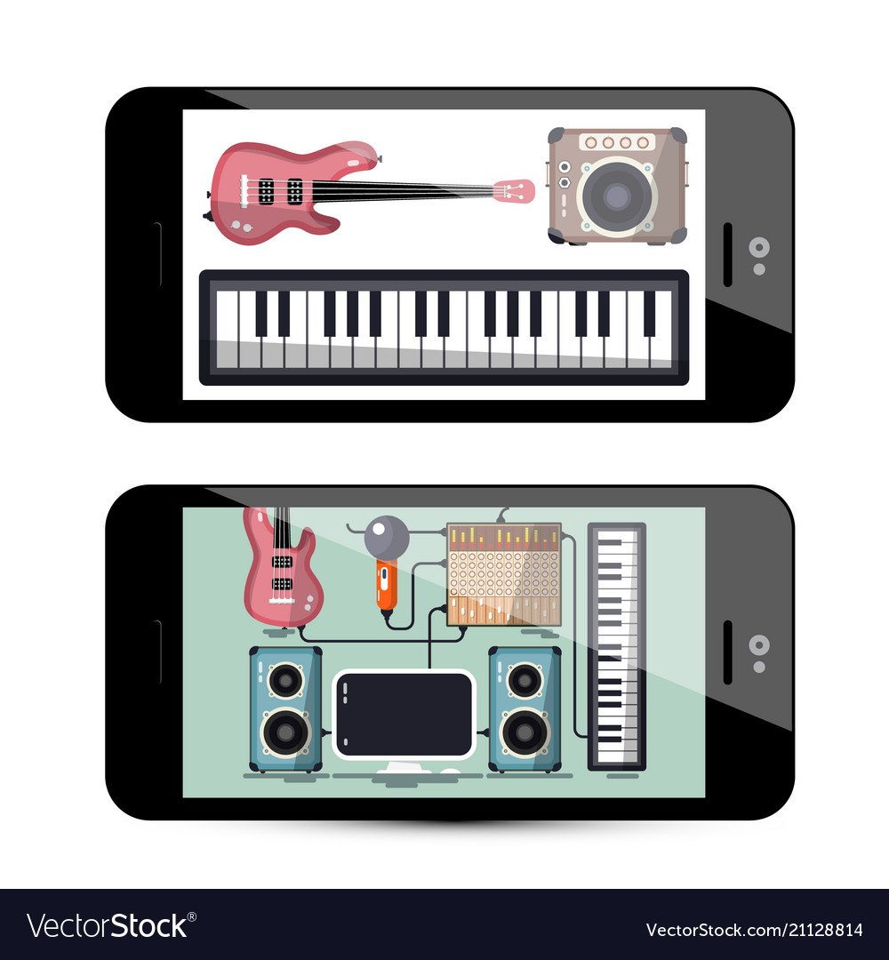 Sound and music app with keyboard guitar and