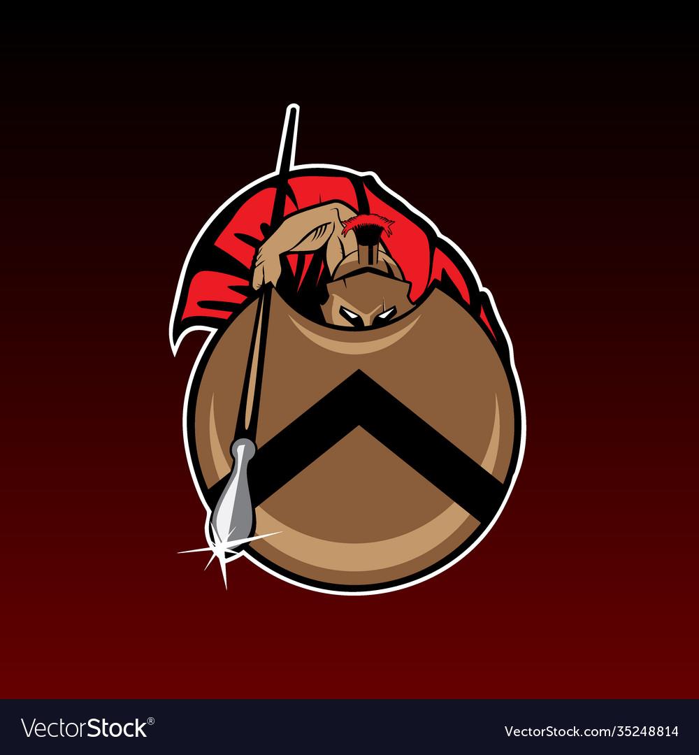 Spartan warrior emblem