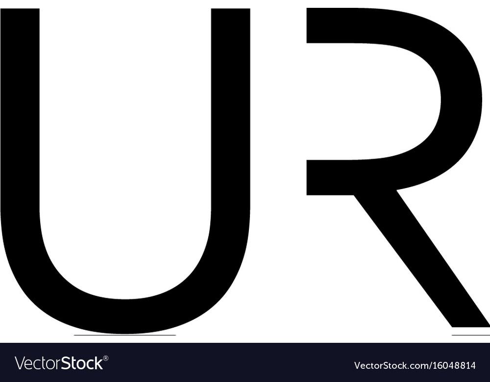 Ur letter logo
