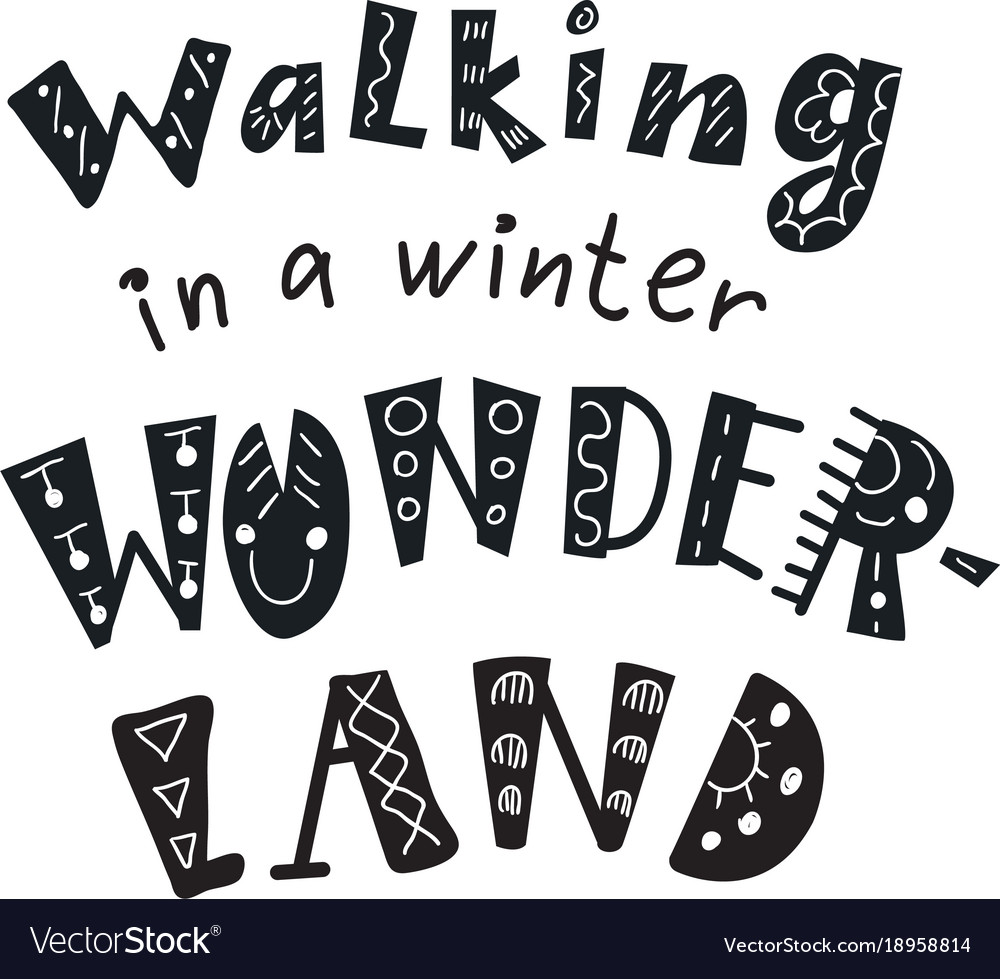 Winter Quotes And Phrases Hand Drawn Lettering Vector Image