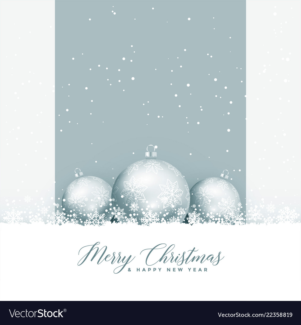 Beautiful merry christmas greeting with balls and