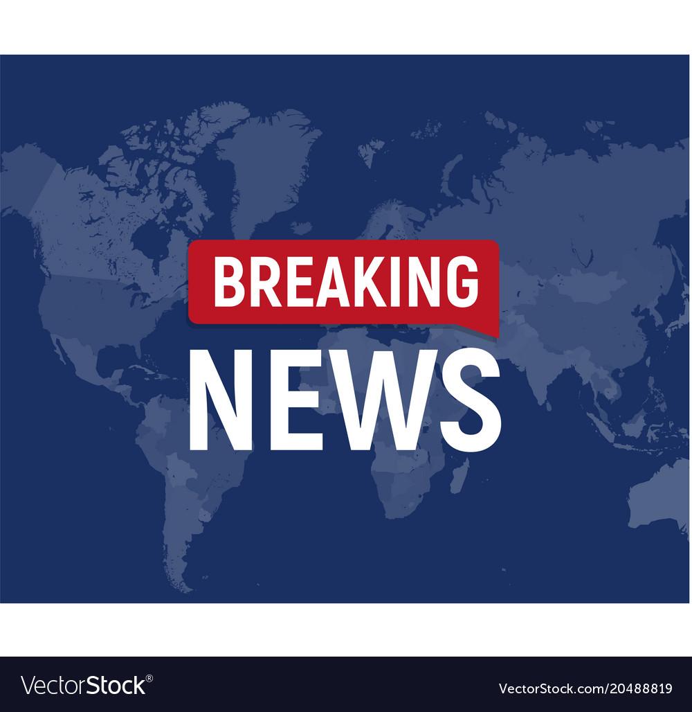 Breaking news modern concept world news template