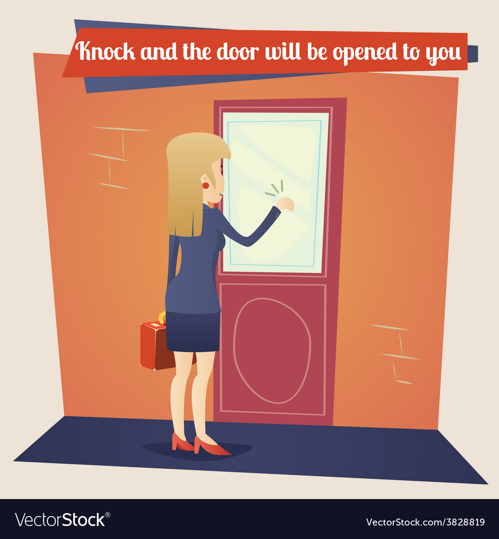 Business Concept Template Businesswoman with vector image