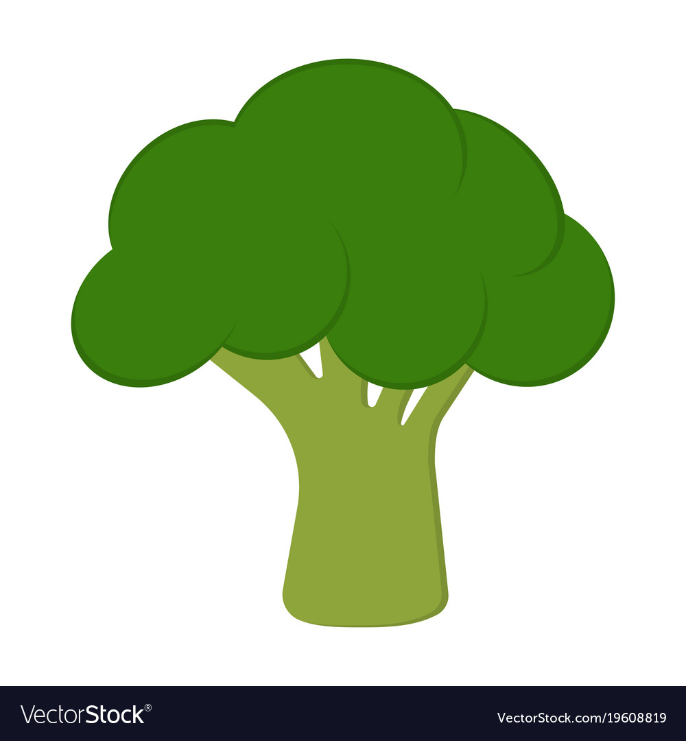 card with broccoli royalty free vector image vectorstock vectorstock