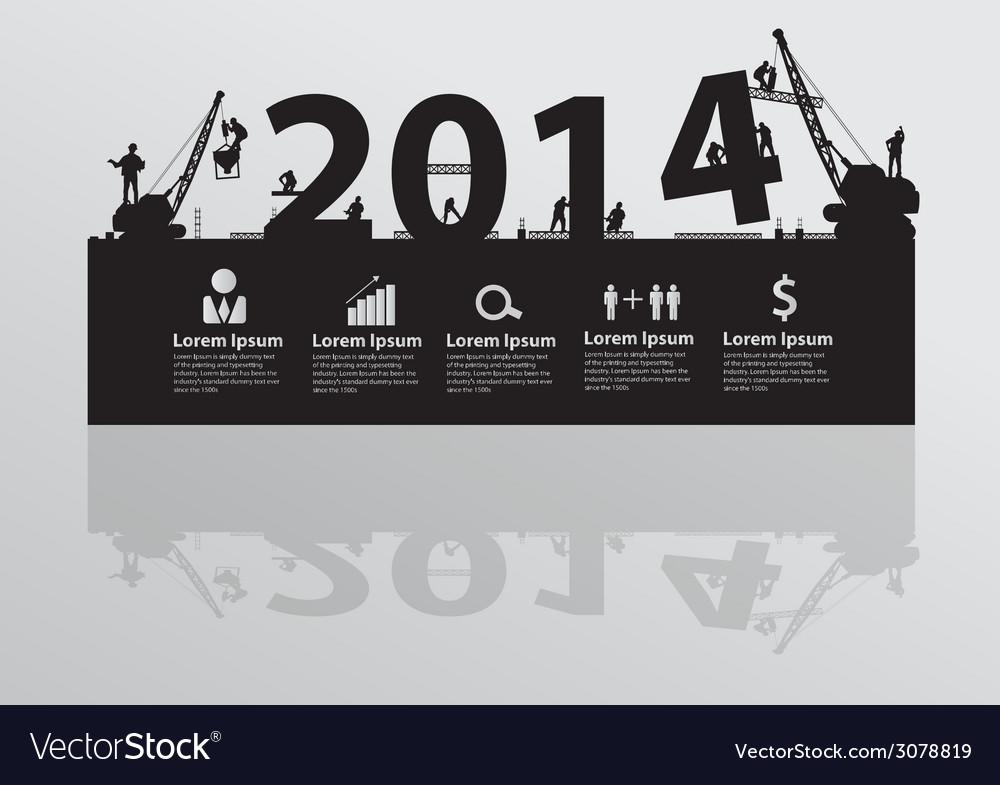 Construction site crane building 2014 text