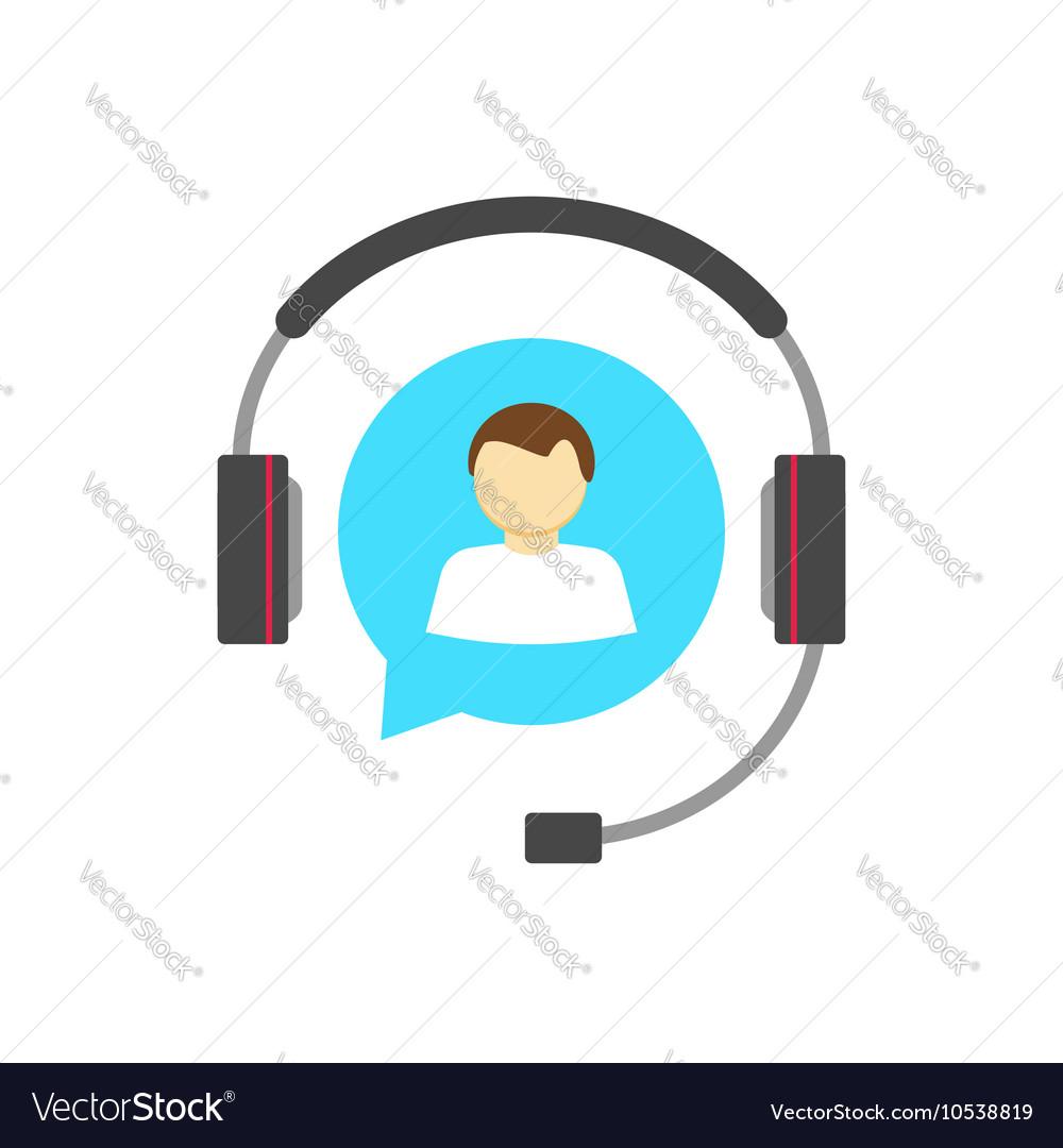Customer help desk logo concept support service