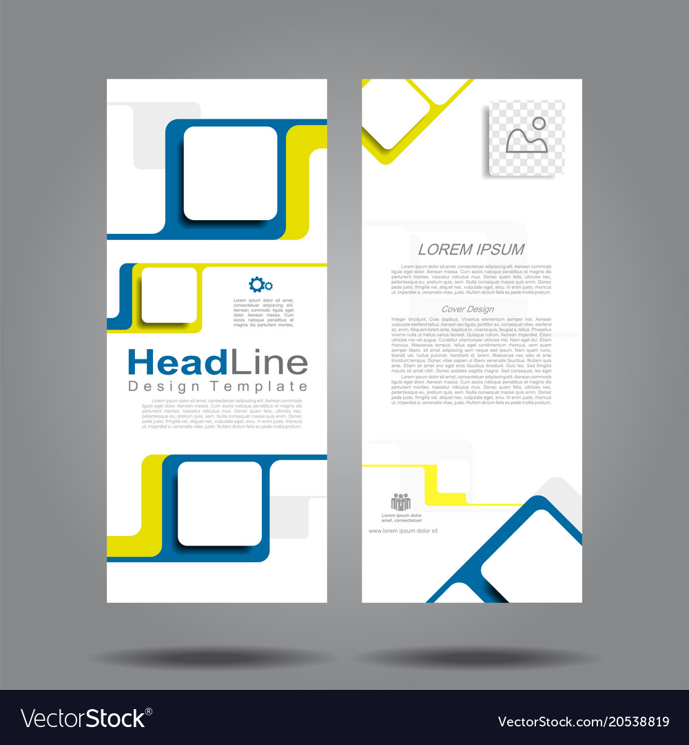 design vertical template flyer banner royalty free vector