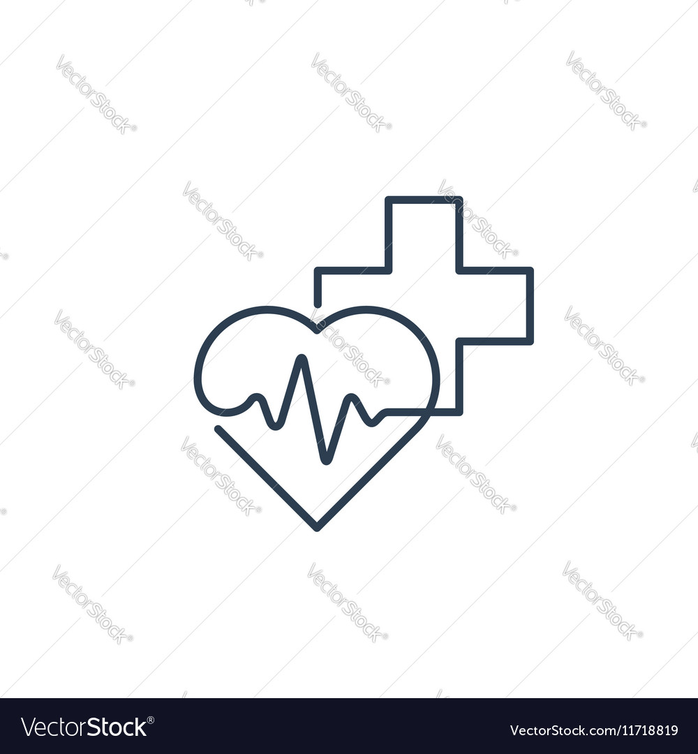 Healthcare and medical logo and icon concept heart