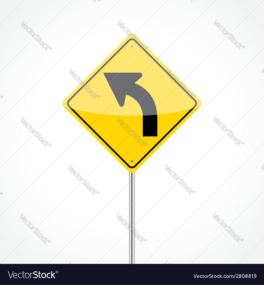 Left Curve Sign