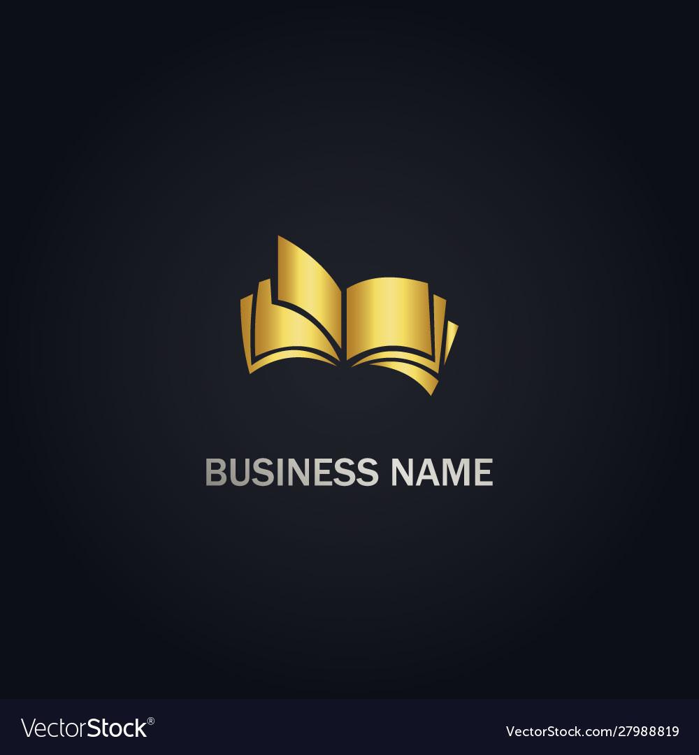 Open book education company logo