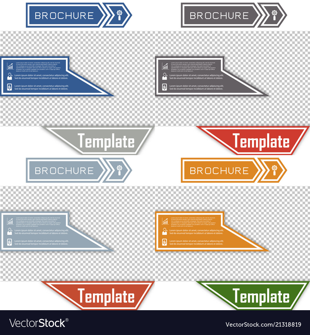 Set of business presentation template from