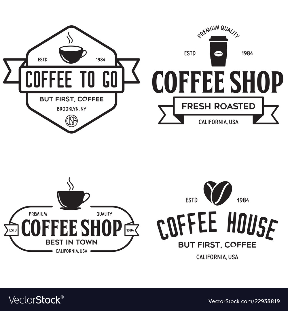 Set of coffee shop logotype templates coffee