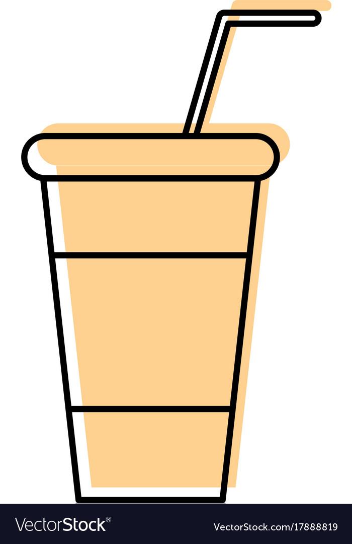 Soda plastic cup icon